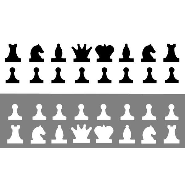 Набор Магнитных фигур для демонстрационных шахмат. 01941