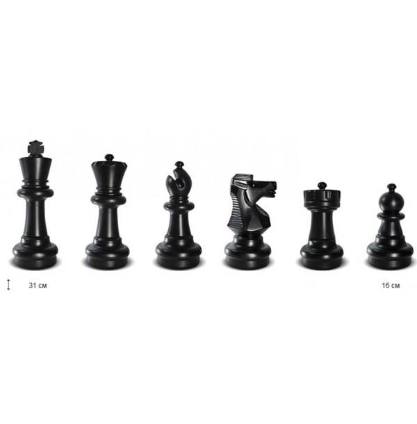 Шахматы в лагерь до 31 см без поля. КШ-12