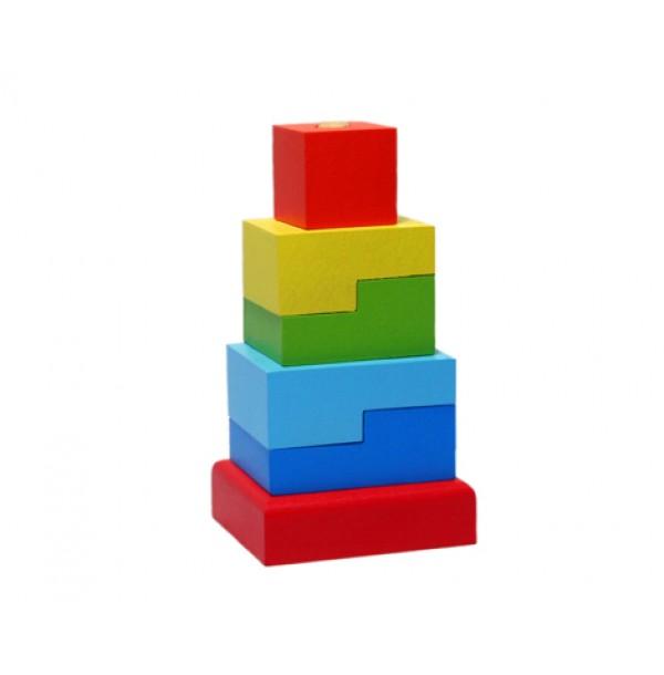 """Пирамидка """"Ступеньки"""" 6 деталей"""