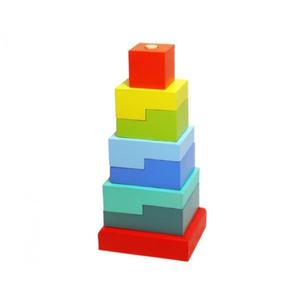 """Пирамидка """"Ступеньки"""" 8 деталей"""