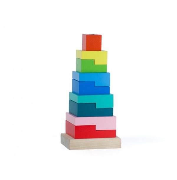 """Пирамидка """"Ступеньки"""" 9 деталей"""