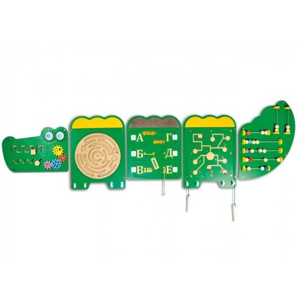 Тактильноразвивающая панель «Крокодильчик Дилли» (БЖ-10)