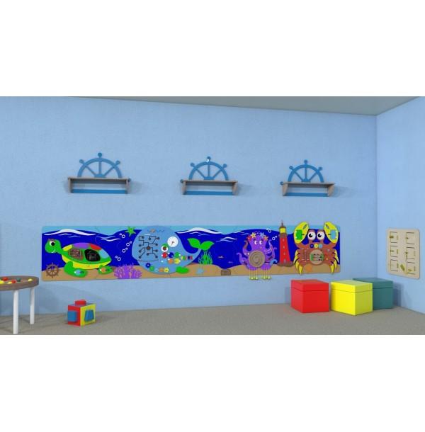 Тактильно-развивающая панель набор-макси «Морские обитатели». БМО-03