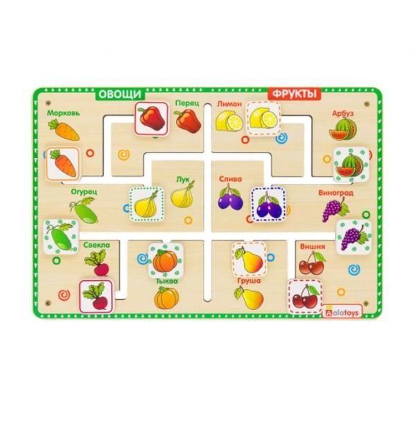 """Лабиринт-логика """"Овощи-фрукты"""". ЛБМ06"""