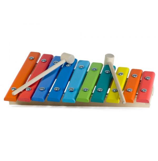 Ксилофон с палочками 10 нот, 2 палочки