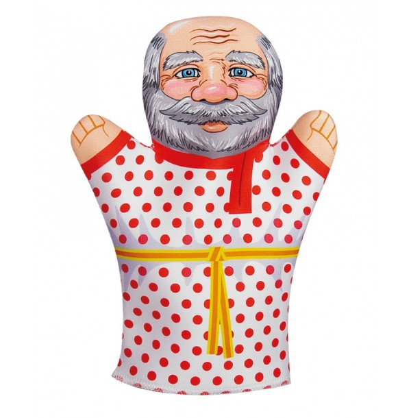 Домашний кукольный театр. Кукла перчатка «Дедушка». 03645