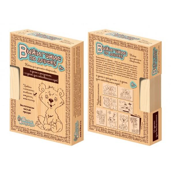 Доски для выжигания, 10шт, сложность рисунков «Новичок». 01723