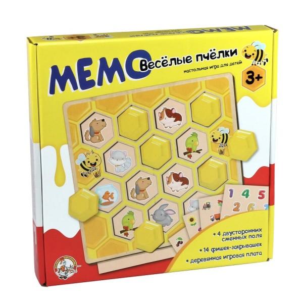 Игра настольная МЕМО «Веселые пчелки». 02971