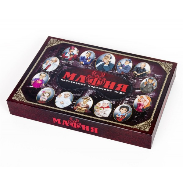 Карточная игра «Мафия» с масками в коробке. 02620