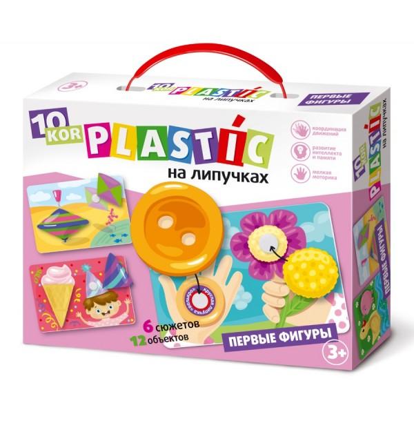 Пластик на липучках «Первые фигуры». 02838