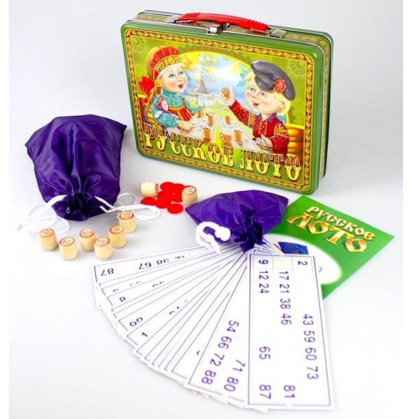 Русское лото в жестяном чемоданчике «Посиделки». 01746