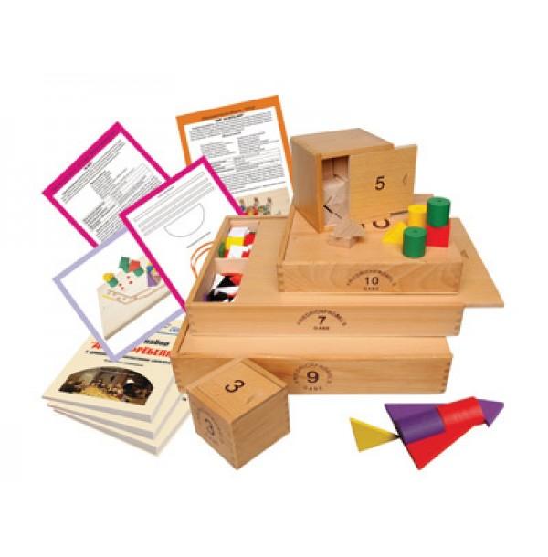 Игровой набор «Дары Фребеля» (14 коробок) с комплектом методических пособий (6 штук) ОСВ 5114