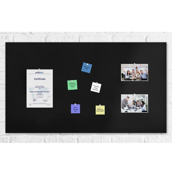 Магнитно-меловая панель 100х50 см черная Velure graffit. 41404
