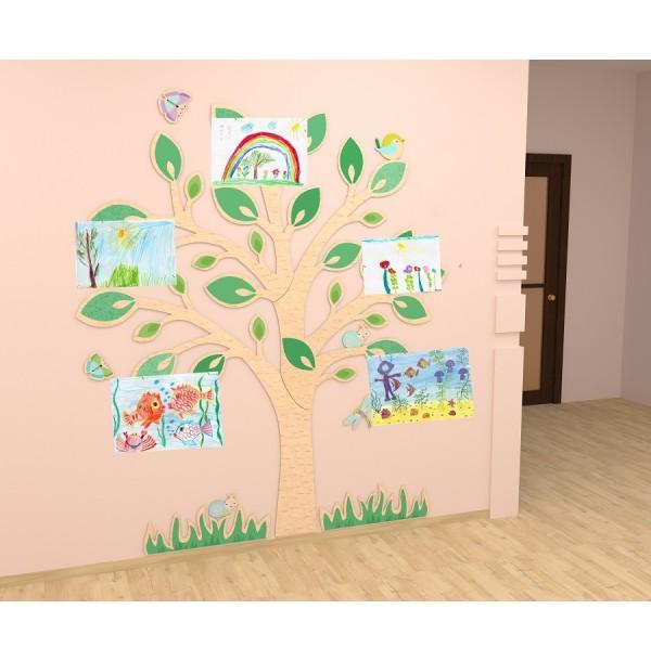 """Демонстрационная система """"Дерево"""" с прищепками для рисунков. 40533"""