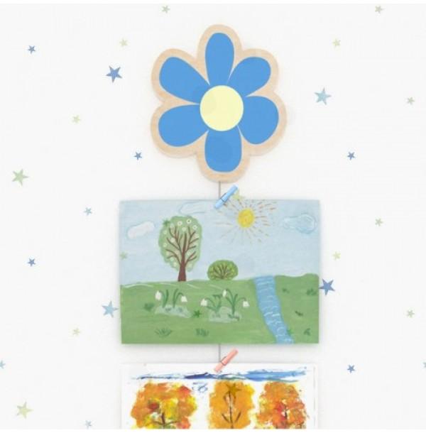 Крепление для рисунков с тросом Синий цветок. Н-39894Т