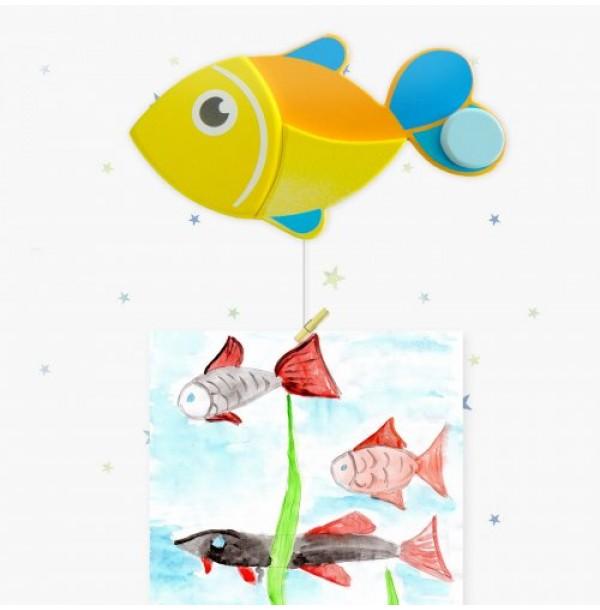 """Крепление для рисунков с тросом """"Рыбка"""". Н-39969Т"""