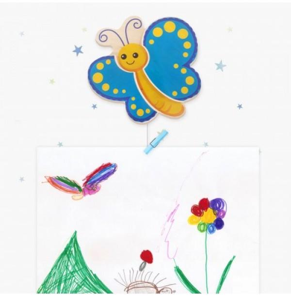 """Крепление для рисунков с тросом """"Бабочка"""". Н-39885Т"""