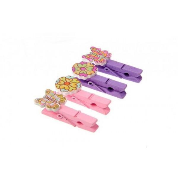 Набор декоративных прищепок «Цветы и бабочки». 1499476С
