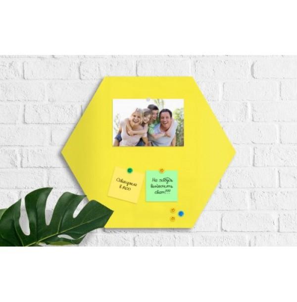 """Базовая магнитная панель""""Сота"""" 40х40 лимонно-желтая. 41947"""