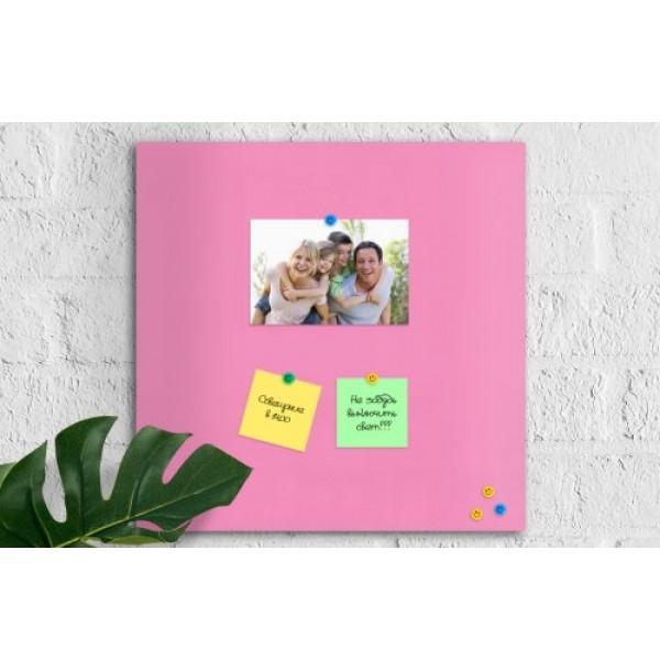 Магнитно-маркерная панель 50х50 нежно-розовая. 42207