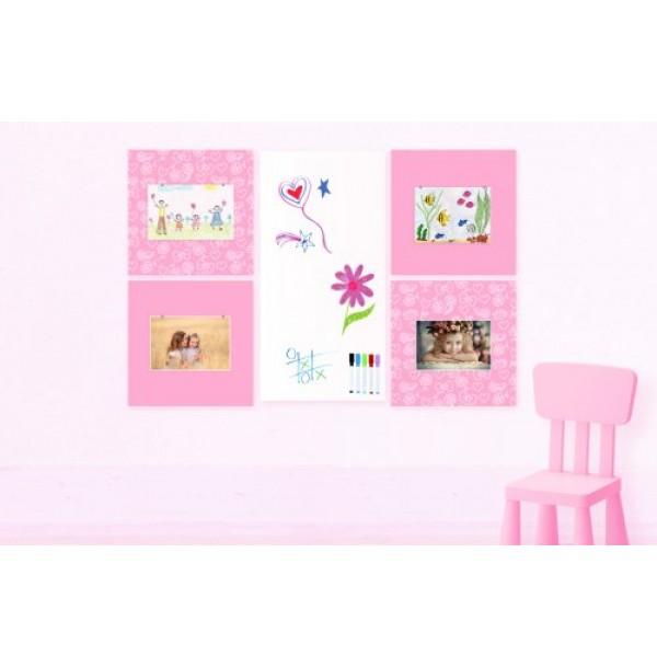 """Комплект магнитно-маркерных панелей """"Pink History"""". 41968"""