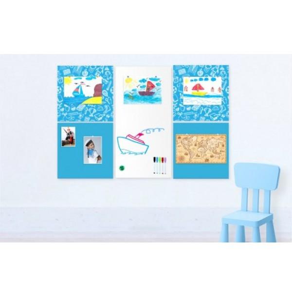 """Комплект магнитно-маркерных панелей """"Light Blue Design"""". 41969"""