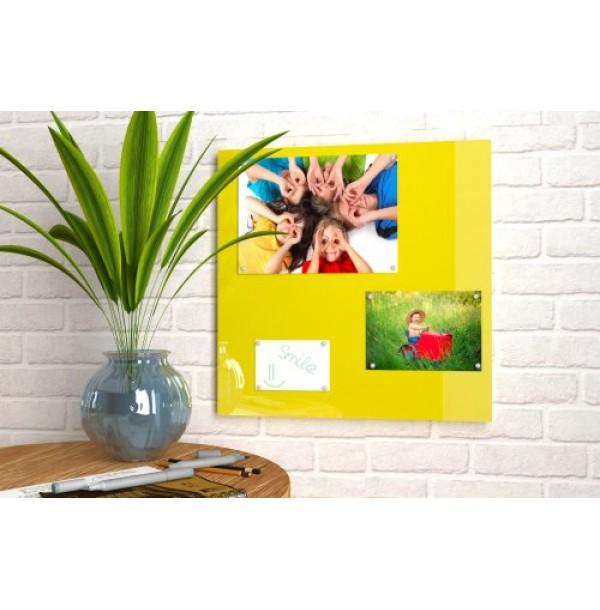 Магнитная панель 50х50 см лимонно-желтая. 42328