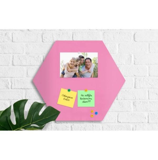 """Магнитная панель """"Сота"""" 40х40 см нежно-розовая. 42456"""