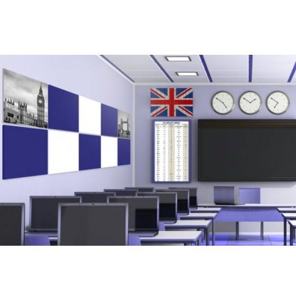 Комплект магнитных панелей для кабинета английского языка. 44585