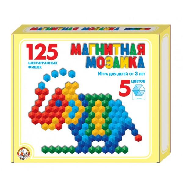 Мозаика магнитная шестигранная 20/5цв/ 125шт, 175х200х35