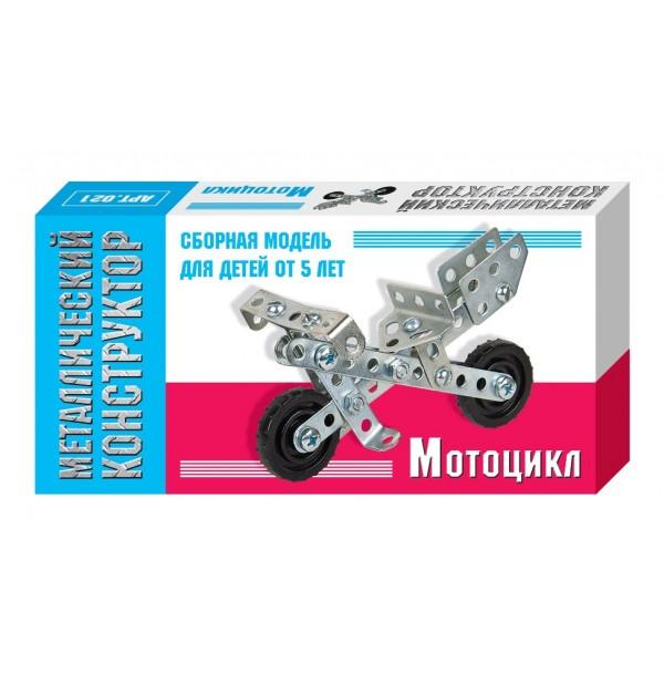 Металлический конструктор мини Мотоцикл