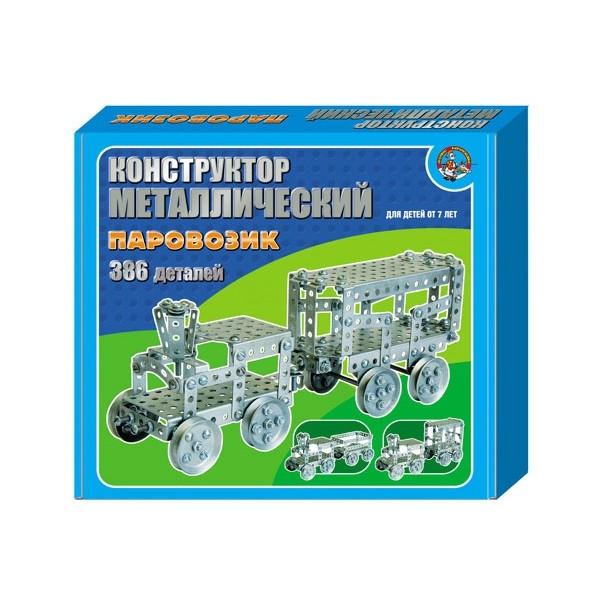 Металлический конструктор Паровозик