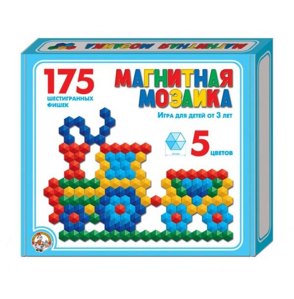 Мозаика магнитная шестигранная 20/5цв/ 175шт, 230х200х35
