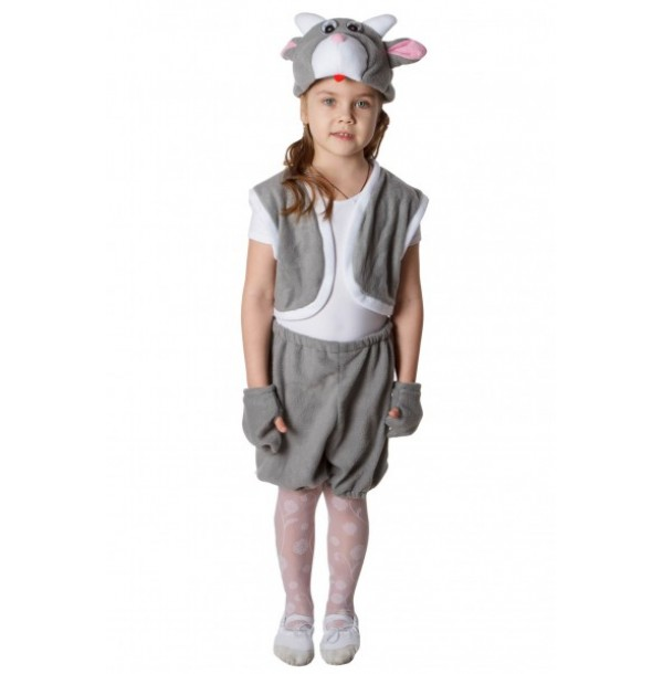 Козлик (шапочка + жилет + лапки + штанишки с хвостиком). 91043/1