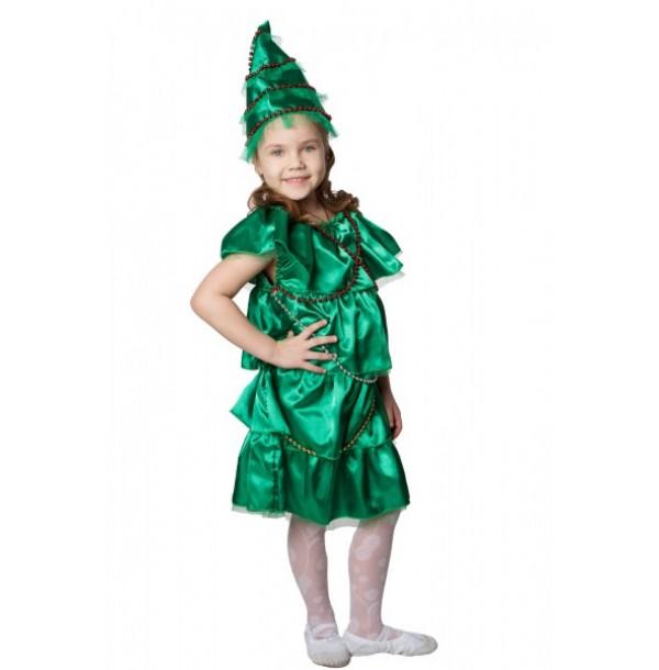 Елочка (платье с бусами и головной убор — елочка). 93008