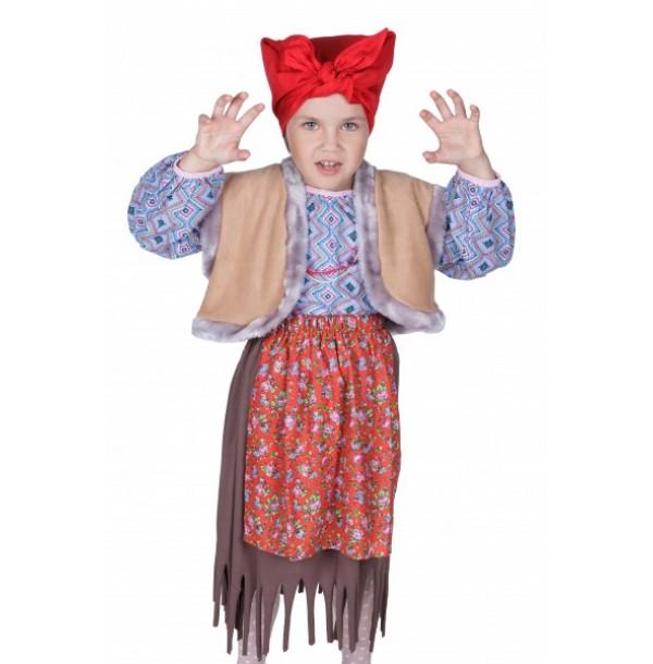 Баба яга (юбка, рубашка, жилет, платок на голову). 91051