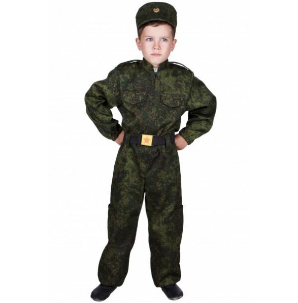 Военный (комбинезон + кепи + ремень). 31039