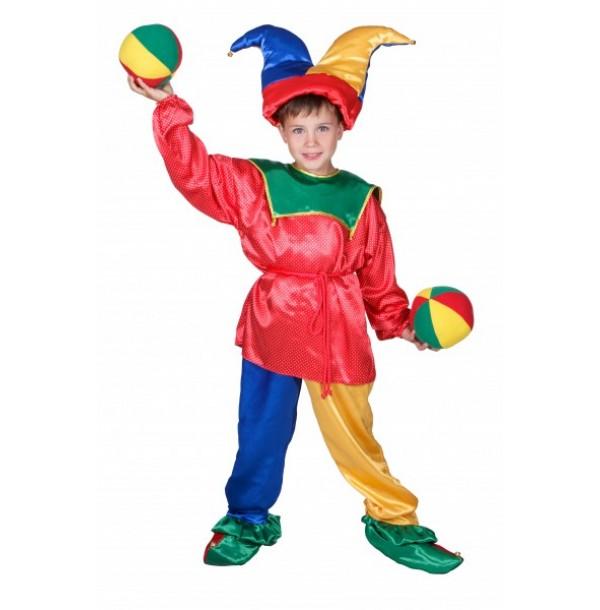 Петрушка (рубашка, штаны, колпак, туфли с загнутым носком и бубенчиками, веревочный поясок). 91060