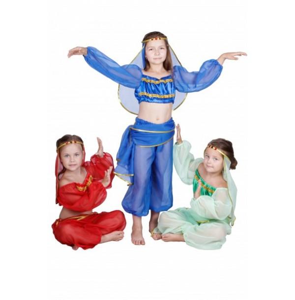 Восточная красавица (шаровары, топ с длиннам рукавом, платок с бубенчиками, головной убор) . 91056