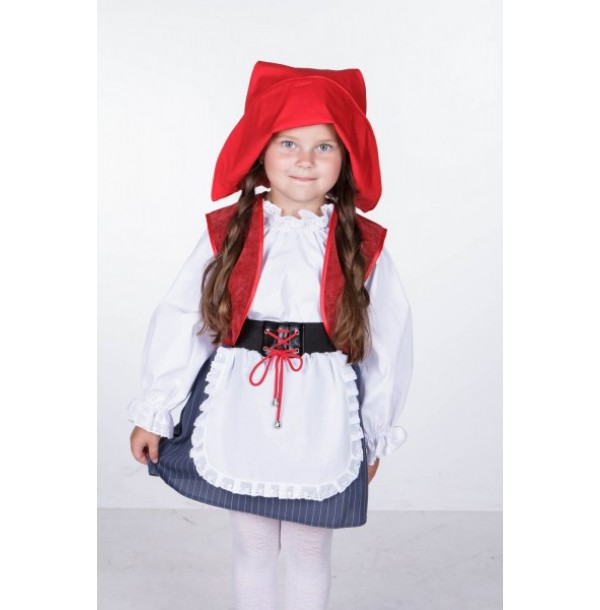 Красная шапочка ( юбка с передником, блузка, жилет, шапочка). 91062