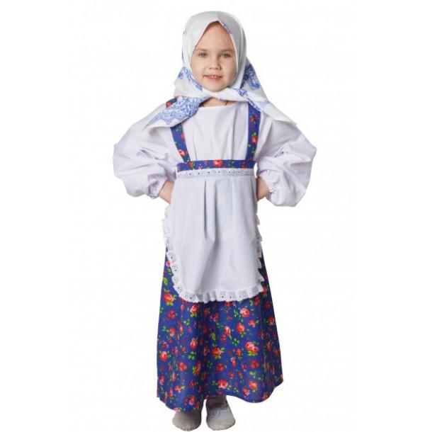 Бабка( сарафан с имитацией блузки и передником, платок на голову). 91039
