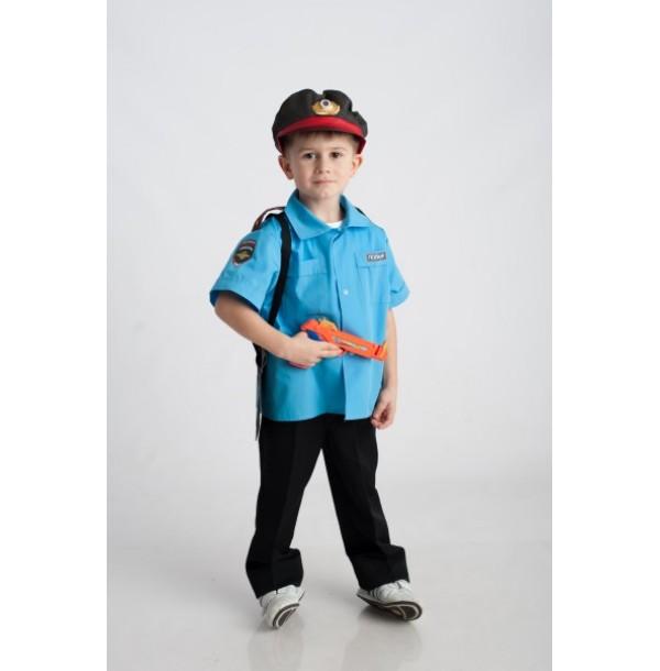 Полицейский (рубашка + фуражка + кобура). 61034
