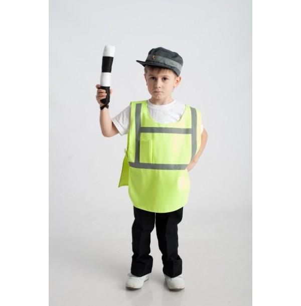 Инспектор ДПС (жилет + шапочка + полосатый жезл). 61017