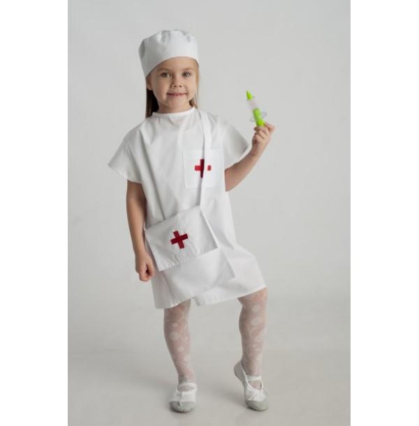 Маленький доктор(халат + шапочка +сумка). 61006