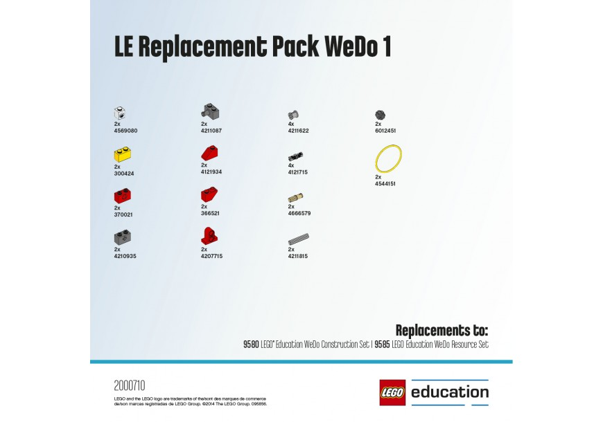 LEGO Education WeDo Ремкомплекты