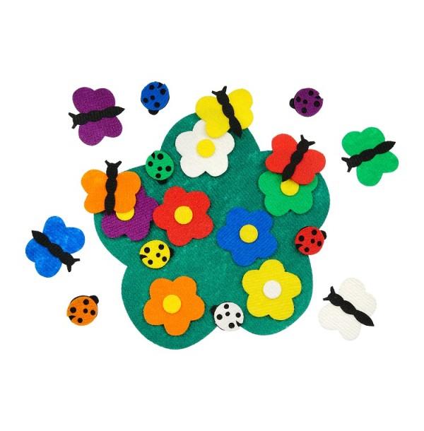 Полянка с цветами и божьими коровками. LIP1054