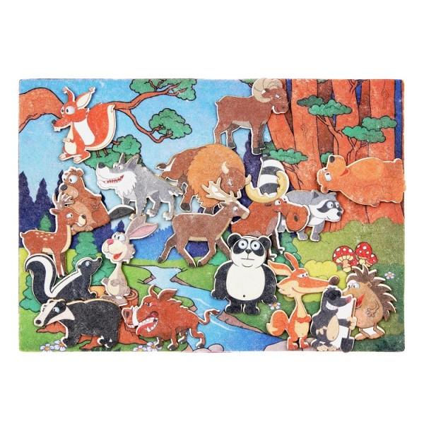 Лесные животные с игровым полем фетр. LIP1127