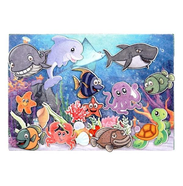 Подводный мир с игровым полем фетр. LIP1129