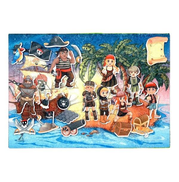Пираты с игровым полем фетр. LIP1135