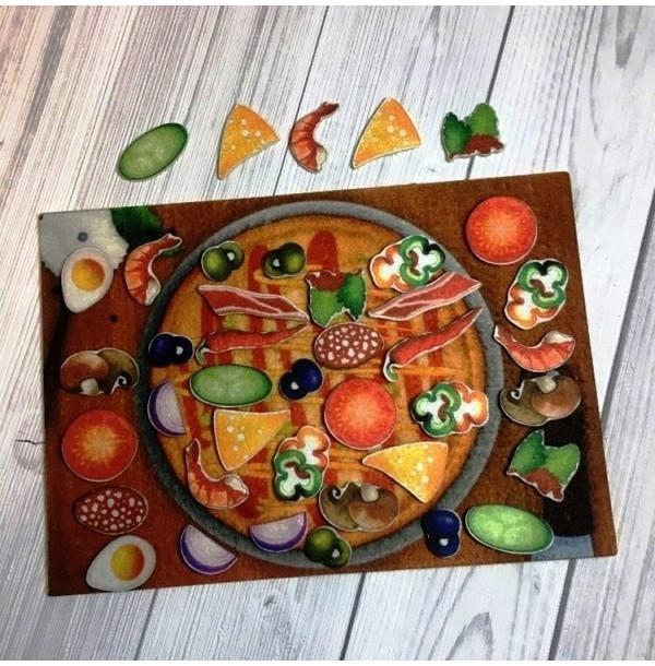Сытная пицца с игровым полем фетр. LIP1157